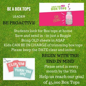 BOX TOPS EMAIL UPDATE