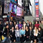 The gang in Times Square