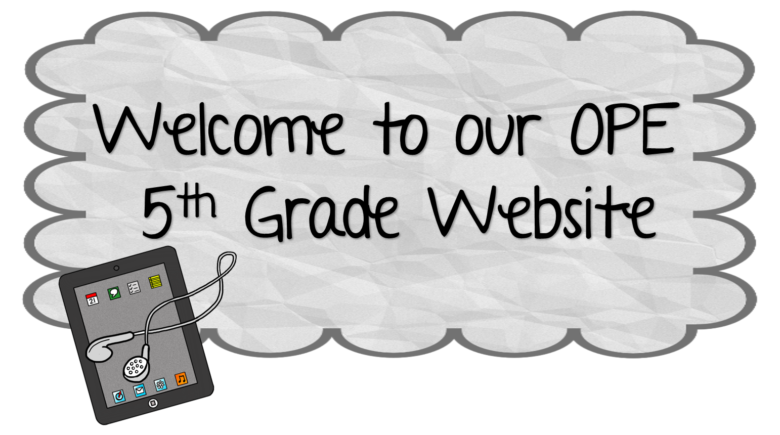 OPE 5th grade website banner