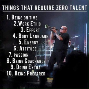 Talent not needed!